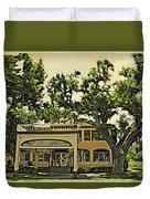 Casements Green Duvet Cover