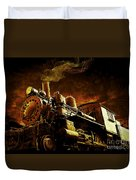 Casey Jones And The Cannonball Express Duvet Cover