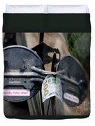 Cash In Truck Fuel Tank Fill Spout Duvet Cover