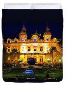 Casino Monte Carlo Duvet Cover by Jeff Kolker