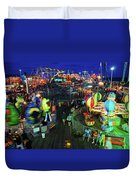 Casino Pier At Seaside Heights Duvet Cover