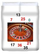 Casino Roulette Wheel Lucky Numbers Duvet Cover