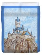 Castle On The River Rhine Duvet Cover