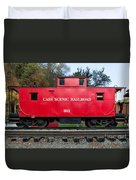 Cass Red Caboose Duvet Cover