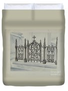 Cast Iron Gate And Fence Duvet Cover