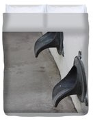 Cast Iron Rain Spouts In Stucco Building Photograph By Colleen Duvet Cover