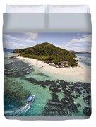 Castaway Island Aerial Duvet Cover
