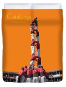 Castellers De Catalunya Duvet Cover