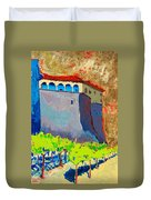 Castello Di Villafranca Duvet Cover