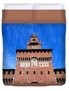 Castello Sforzesco Tower Duvet Cover