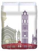 Castellon Skyline Poster Duvet Cover