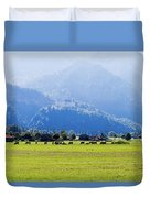 Castle And Cattle Duvet Cover