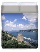 Castle At Rumelihisan Along Side Duvet Cover