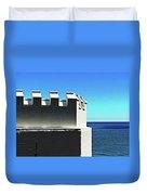 Castle By The Sea Duvet Cover