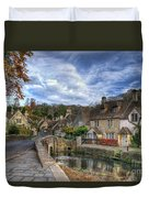 Castle Combe England Duvet Cover