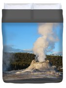 Castle Geyser Duvet Cover