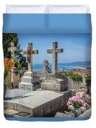 Castle Hill Graves Overlooking Nice, France Duvet Cover
