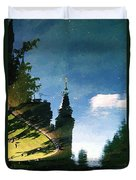 Castle In The Lake Duvet Cover
