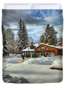 Castle Mountain Chalets Panorama Duvet Cover