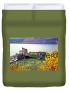 Castle Ruins Scotland Duvet Cover