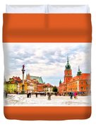 Castle Square, Warsaw Duvet Cover