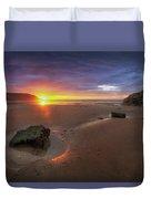 Caswell Bay Sunrise Duvet Cover