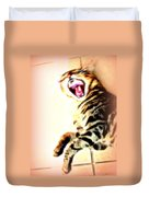 Cat Screaming To Me Duvet Cover