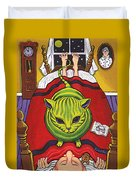 Cat - Alien Abduction Duvet Cover