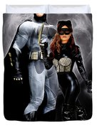 Cat And Bat Duvet Cover