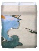 Cat And Lizard  Duvet Cover