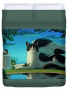 Cat And Mouse 2 Duvet Cover