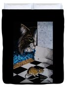 Cat And Mouse Duvet Cover