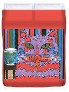 Cat Attack Duvet Cover