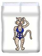 Cat Bathing Suit Duvet Cover