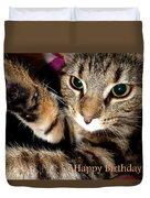 Cat Card Duvet Cover