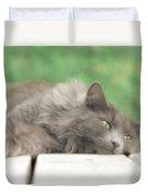 Cat Chillax Duvet Cover