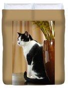 Cat Contimplation Duvet Cover