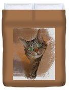 Cat Desire. Duvet Cover