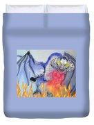 Cat Dragon Duvet Cover