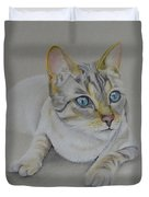 cat drawing - Jackson Duvet Cover