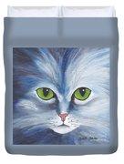 Cat Eyes Blue Duvet Cover