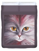 Cat Eyes Red Duvet Cover
