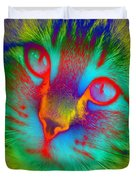 Cat Fluorescent Duvet Cover
