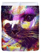 Cat Head Face Macro Close Up  Duvet Cover