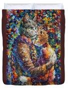 Cat Hug   Duvet Cover