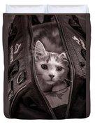 Cat In A Bag Duvet Cover