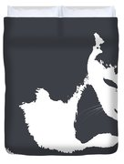 Cat In Black And White Duvet Cover