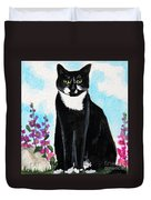 Cat In The Garden Duvet Cover
