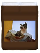 Cat In The Roof Duvet Cover