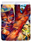 Cat In Tree Duvet Cover